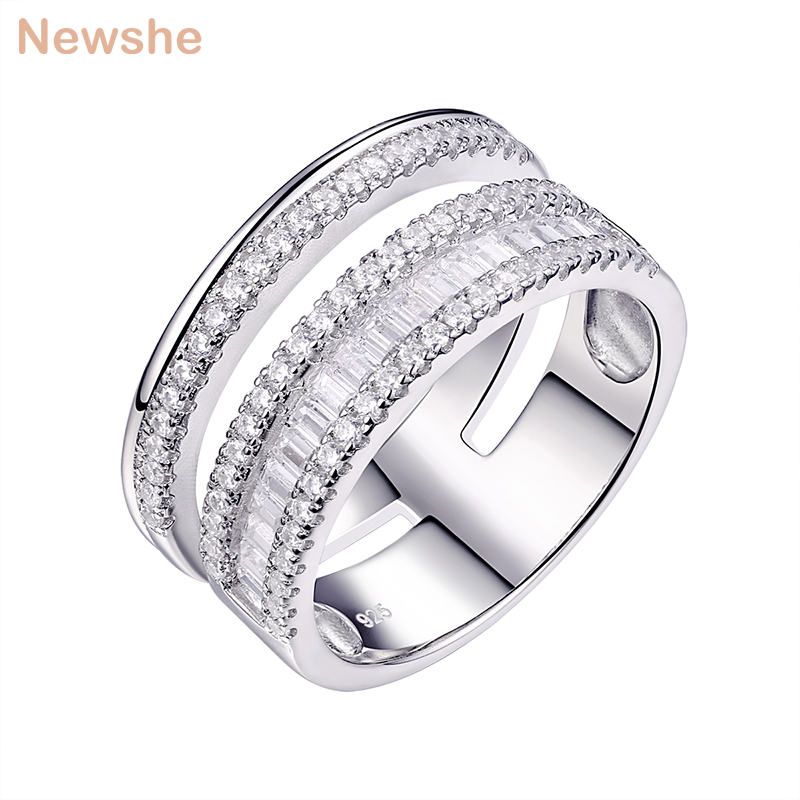 Newshe 925 Sterling Silver Wedding Ring Engagement Band 1.5Ct AAA CZ Classic Jewelry For Women GR01339ANewshe 925 Sterling Silver Wedding Ring Engagement Band 1.5Ct AAA CZ Classic Jewelry For Women GR01339A