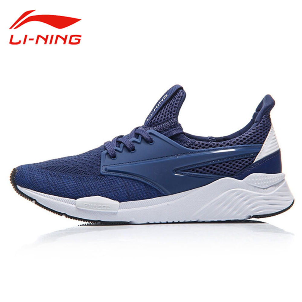 Li-Ning Men MONO YARN Exceed Walking Shoes LiNing Mesh Breathable Leisure Sneakers Li Ning Cushion Sports Shoes AGCM033 peak sport speed eagle v men basketball shoes cushion 3 revolve tech sneakers breathable damping wear athletic boots eur 40 50