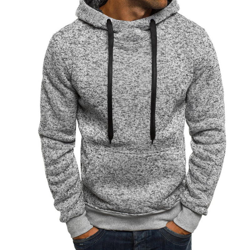 2018 neue männer Hoodie Langarm Feste Beiläufige Mit Kapuze Mode Sweatshirt Fitness Streetwear Hip-Hop Pullover Hoodies Männer L-3XL