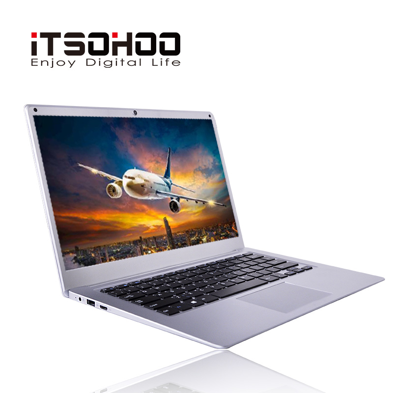 ITSOHOO Netbook New 14.1 Inch Laptop Computer 4GB 64GB Bluetooth Ultrabook Intel Quad Core Mini Notebook Windows 10  Laptops