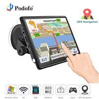 Podofo Car GPS Navigation FM Bluetooth AVIN Win CE 6.0 7 HD Touch Screen Sat nav Truck gps navigators automobile with Free Maps