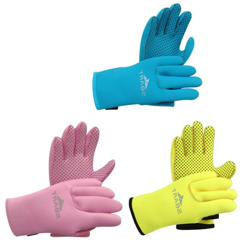 1Pc New Hot 3mm Children Kids Winter Warm Swimming Slip Diving font b Gloves b font