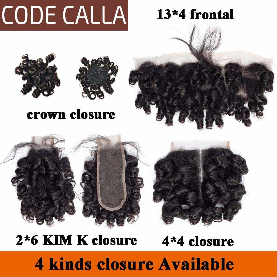 Код Calla Bouncy кудрявые предварительно цветные необработанные девственные человеческие волосы пучки дважды нарисованные Малайзийский переплет 35 г * 6 может сделать парик темно-коричневый