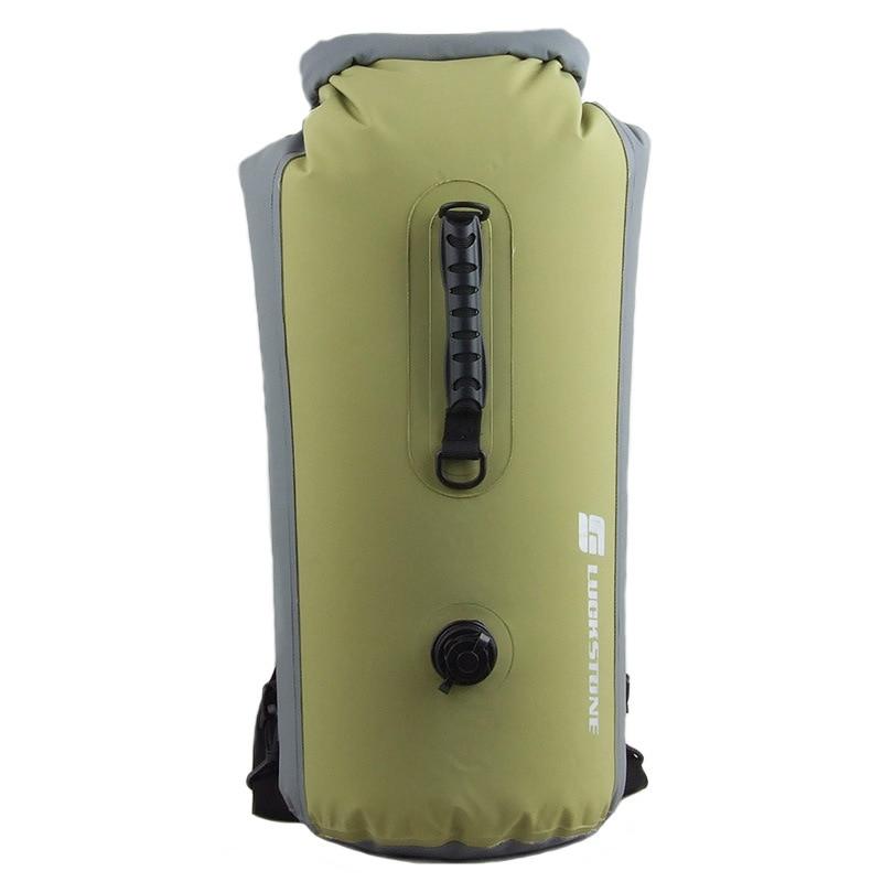 25-60L profesional IPX7 impermeable bolsa de natación 2016 inflable Snorkeling Rafting Drifting buceo seco mochila saco