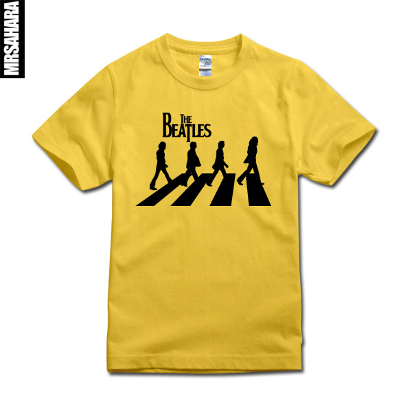 The Beatles Abbey Road Silhouette Mens T Shirt 100 Cotton High Quality Short Sleeves Fast Shipping In Shirts From Clothing Accessories On
