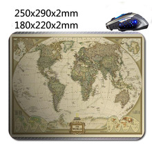 National Geographic World Map Print Gaming Mouse Mat High Quality Durable Fashion Computer and Laptop Mouse Pad 220nn*180mm*2mm