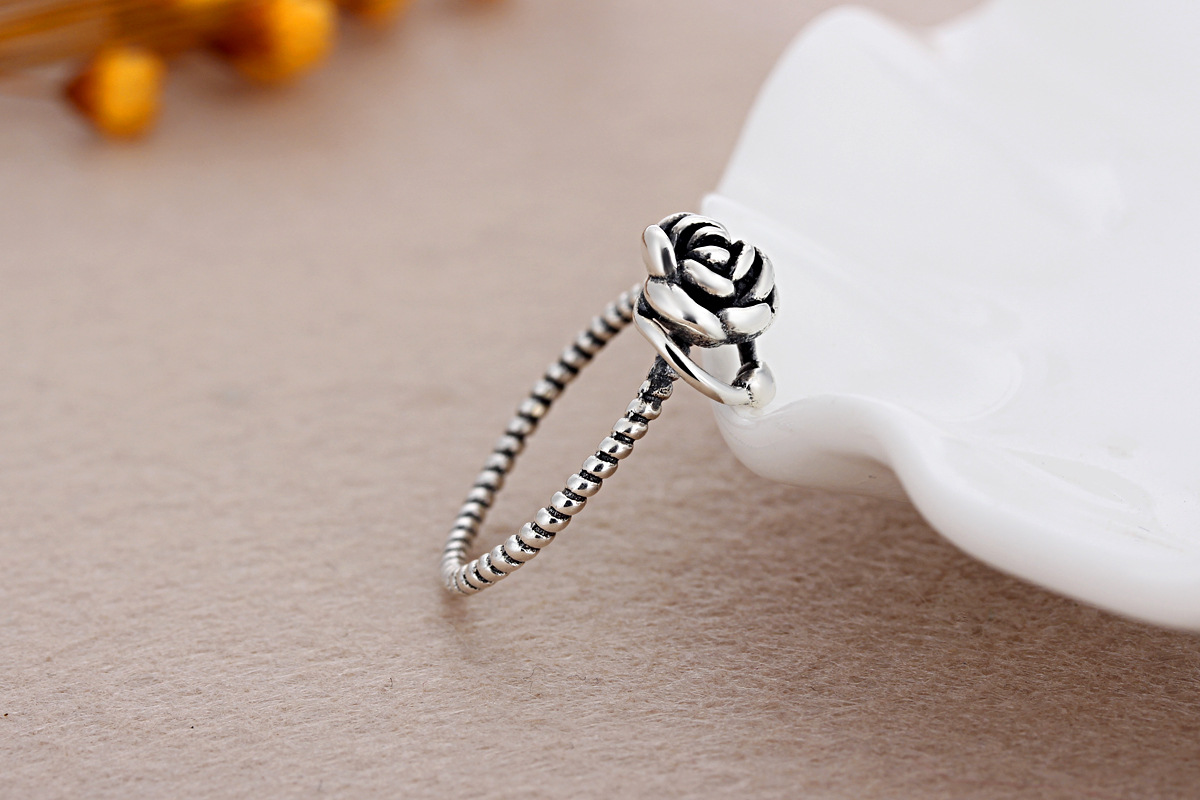 30% PR Vintage Rose Blume Ringe Set für Frauen Mädchen Böhmen Antike Silber Farbe Midi Ringe Set Floral Knuckle Ring