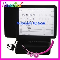 W2205 Numbers Contrast 40cm Double side Near Reading Led Illuminated Vision Visual Acuity Chart Back With 30cm Amsler Grid