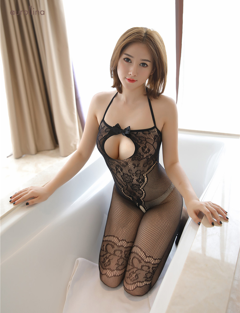 Wild  Japanese AV Star Teacher Home Tutor Stocking Pantyhose Adultery Fashion Dress Open Back Lace Detail Thigh Band Fishnet Sexy Toe Nail Festism Bodysuit (8)