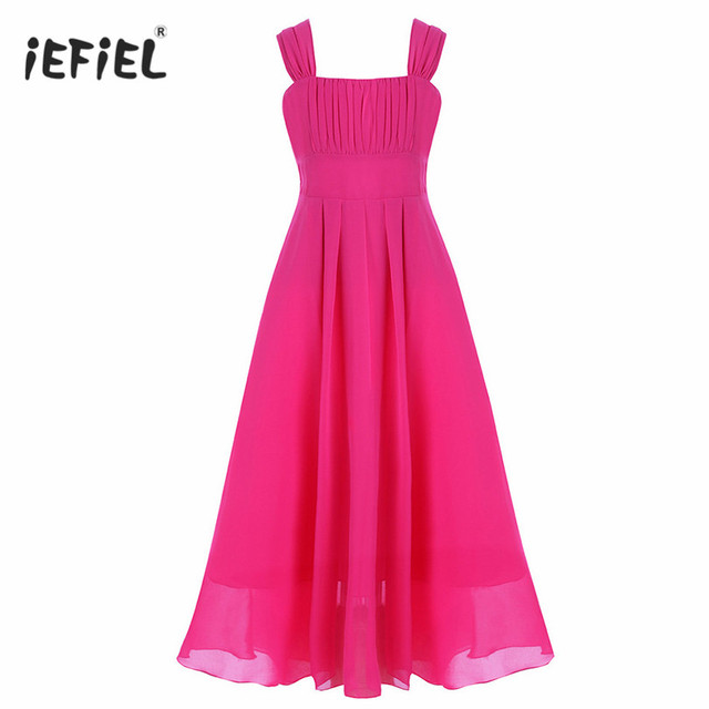 16b0f530617 iEFiEL Kids Flower Girls Dress Chiffon Pageant Princess Floral Party Dresses  Wedding Vestido de Ball Gown Formal Occassion Dress