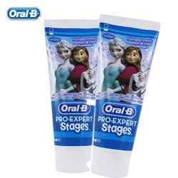 Oral-B детская зубная паста предотвращает зубные кариес фруктовый запах гигиена полости рта десен Уход Отбеливание зубов Зубная паста 2 шт