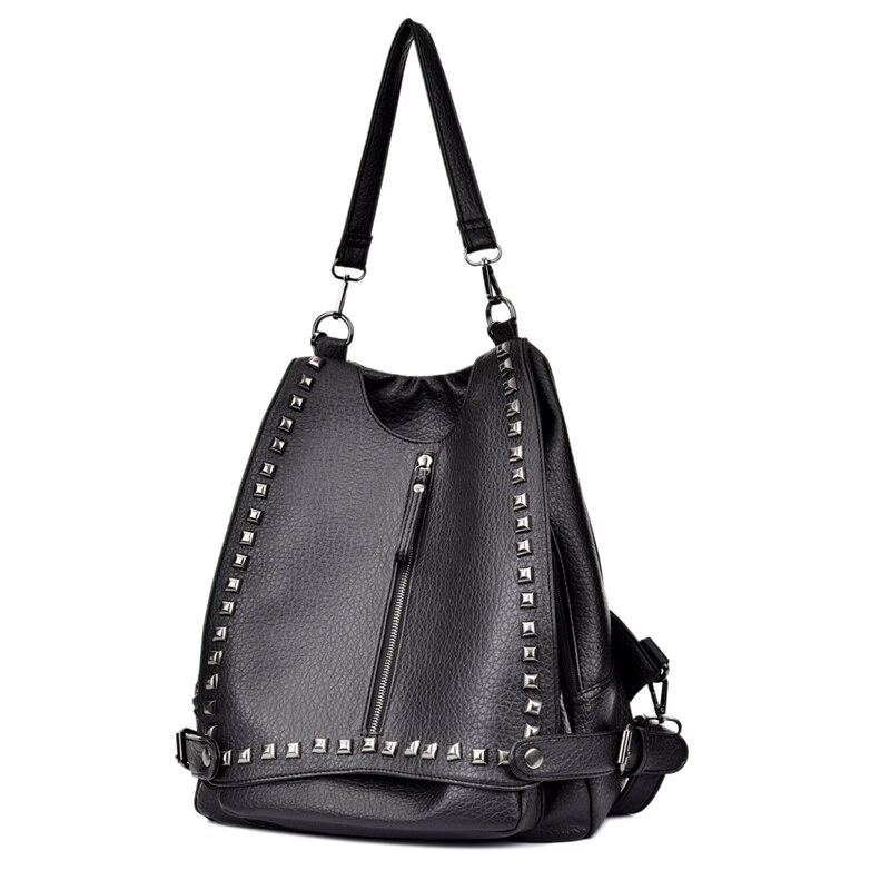 Women Backpacks Zipper Rivfet Bag pu Leather Casual European American Styie Backpacks Mochilas Feminina Rugzak Sac
