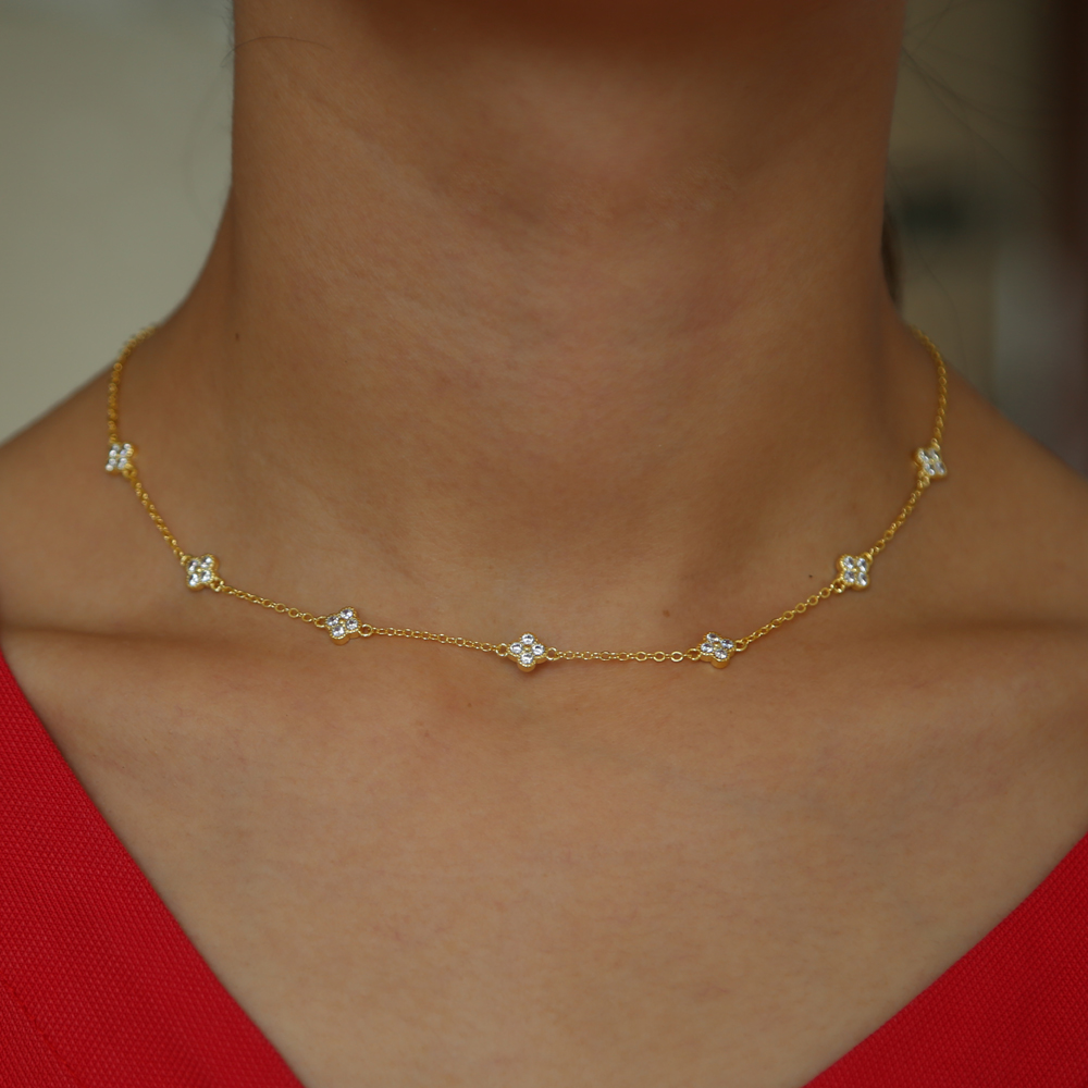 BRASS NECKLACE y 33+7CM(17)
