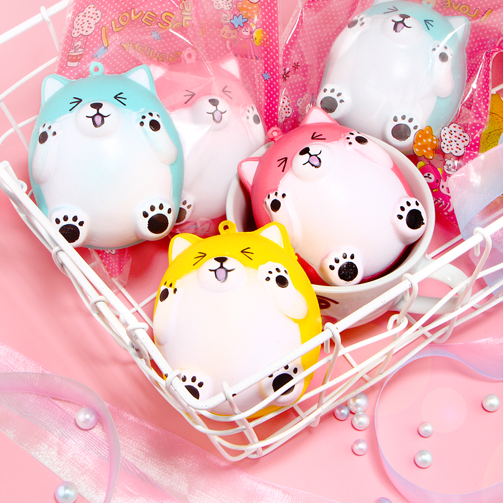 Cute Bear Squishy Hamster Squishies Slow Rising Cream Scented Original Package Stress Relief Toy pa93 pu foam shrimp model squishy relieve stress toy