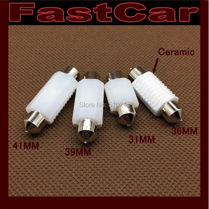 100X nonpolarity Ceramic 36mm 39mm 41mm 31mm C5W leds 3030 CANBUS Error Free Car Festoon Lamp