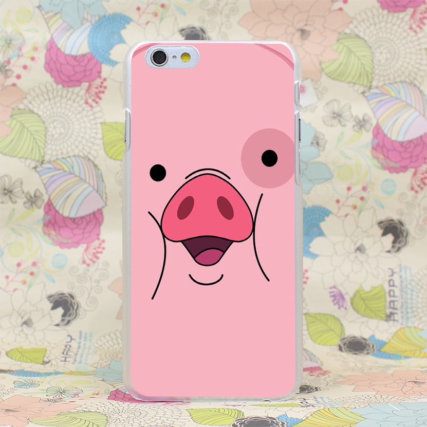 434HJ Gravity Falls Waddles f Hard Transparent Case Cover for iPhone 4 4s 5 5s SE 5C 6 6s Plus 7 7 Plus