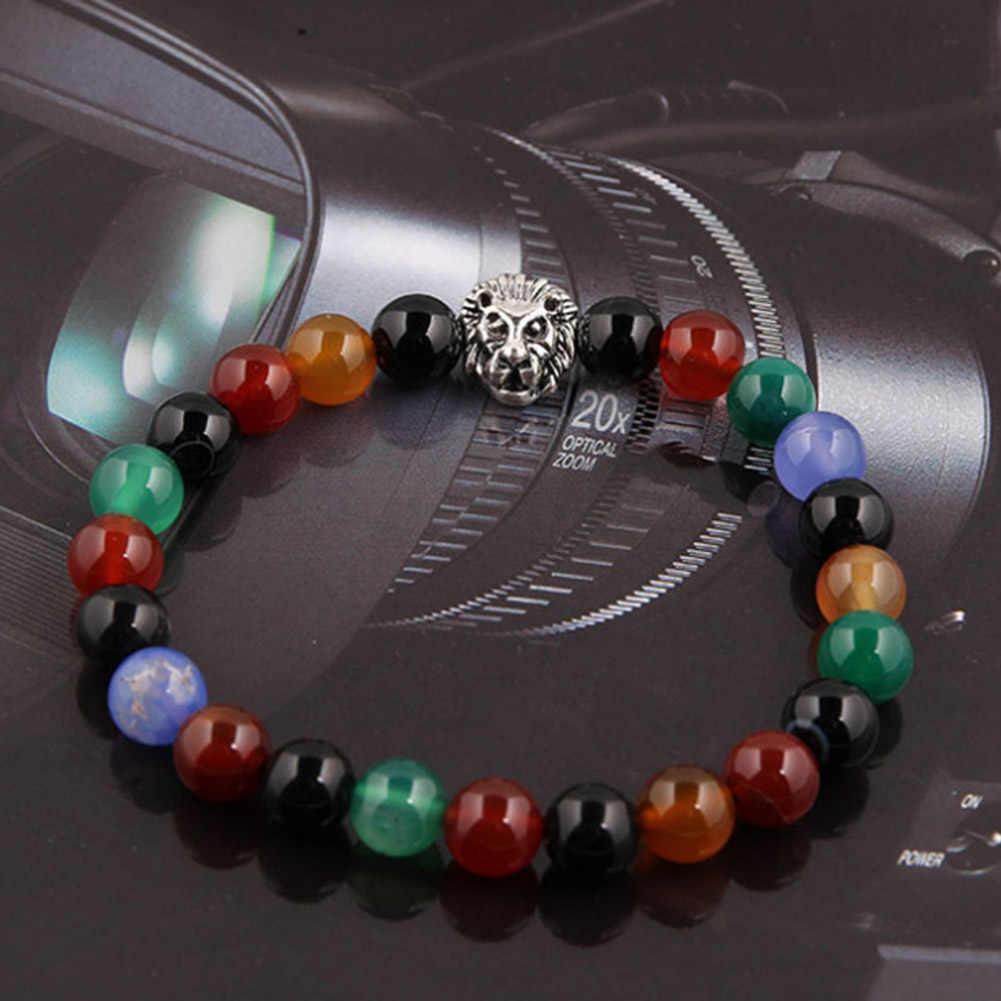 Черный камень из натуральной лавы золотистого цвета Лев strand браслет Femme Этнические бусы ручной работы браслеты турецкие мужские ювелирные изделия цветные бусины
