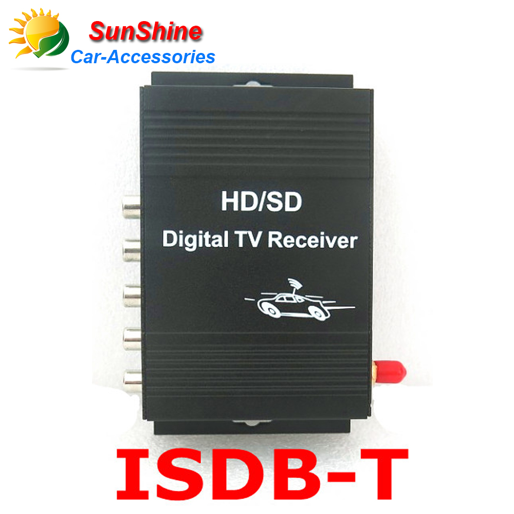 Brazil/South America Car ISDB-T Brazil One seg Digital TV Tuner Receiver ISDB-T DIGITAL TV TUNER 4 Video Out For car dvd player