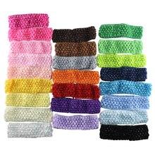 5pcs lot baby crochet elastic headband crochet hair lace bands children hair accessories