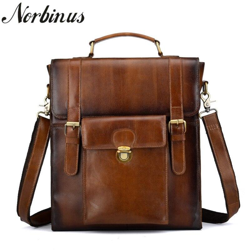 Norbinus 2018 Cow Leather Men Backpacks Genuine Leather Shoulder Bag School Bags for Teenager Boys Male Laptop Backpack Rucksack цена 2017