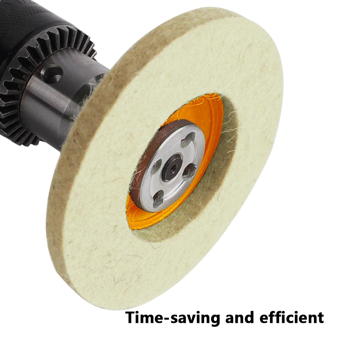 3Pcs  4'' 100mm Polishing Pad Wool Buffing Angle Wheel Grinder Felt Polishing Disc For Rotary Tool Abrasive Grinding Wheel