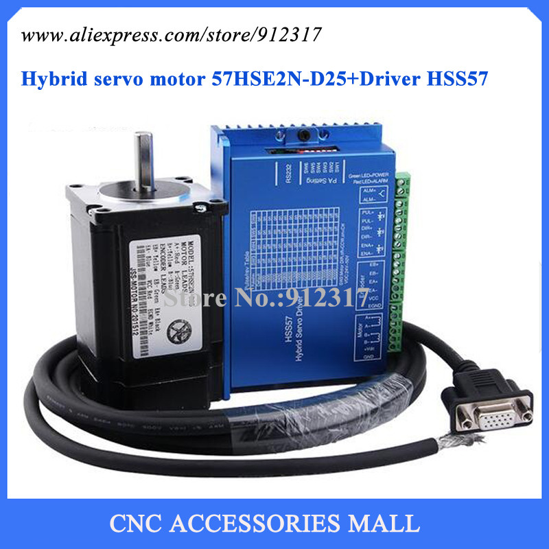 где купить Nema23 Full Closed Loop High Speed Stepping Motor Kit 2Nm Stepper Motor + Driver Hybrid Servo Set по лучшей цене