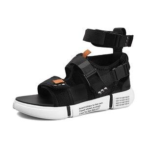 Image 5 - ZUNYU 2019, nueva moda de verano para hombre, zapatos de Gladiador, sandalias con plataforma abierta, sandalias de playa, botas, estilo romano, sandalias de lona para hombre