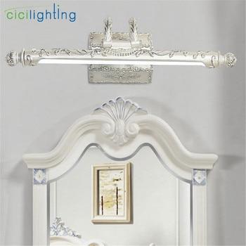 110V - 240V 7W 54cm European LED Bathroom Mirror Lights Vintage Retro Toilet Kitchen Cabinet Light Rotation Design Silver Lamps