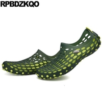 Closed Toe Gardening Breathable Summer Clogs Jelly Sandals Garden Sport Fashion Designer Shoes Men High Quality Rubber Green