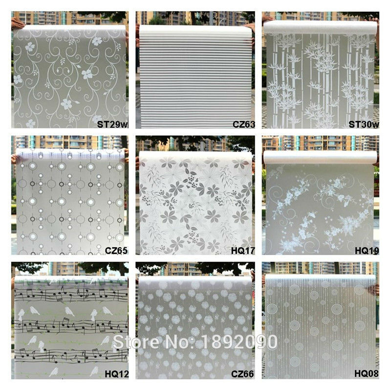 Window-Film Glass Stickers Adhesive Frosted Opaque-Glass Bedroom Mixed-Color Home-Decor