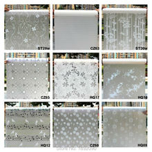 רחב 45cm * ארוך 100cm אטום חלבית זכוכית חלון סרט חלון פרטיות דבק זכוכית מדבקות בית תפאורה מעורב צבע שינה