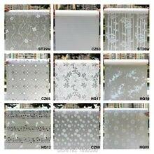 Breite 45cm * Lange 100cm Matt Opaque Glas Fenster Film Für Fenster Privatsphäre Klebstoff Glas Aufkleber Wohnkultur mixed Farbe Schlafzimmer