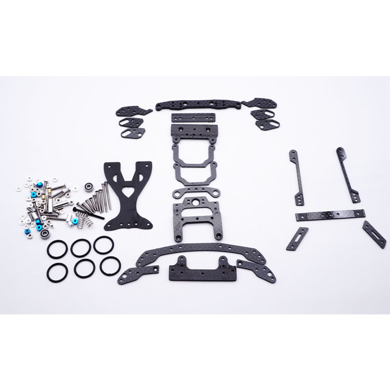 mini 4wd carbon pivot set swing fish car parts MS chassis suspension carbon full setting mini 4wd spring for tamiya car