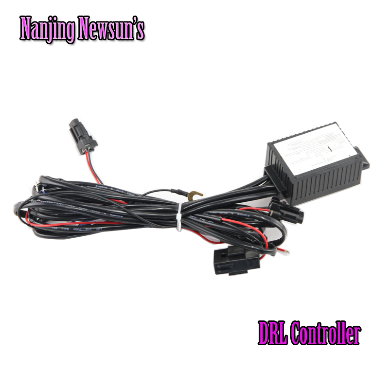 Add On DRL Daytime Running Light Relay Harness Auto Car Control On/Off Switch 12V Head Light Side Lamp Controller