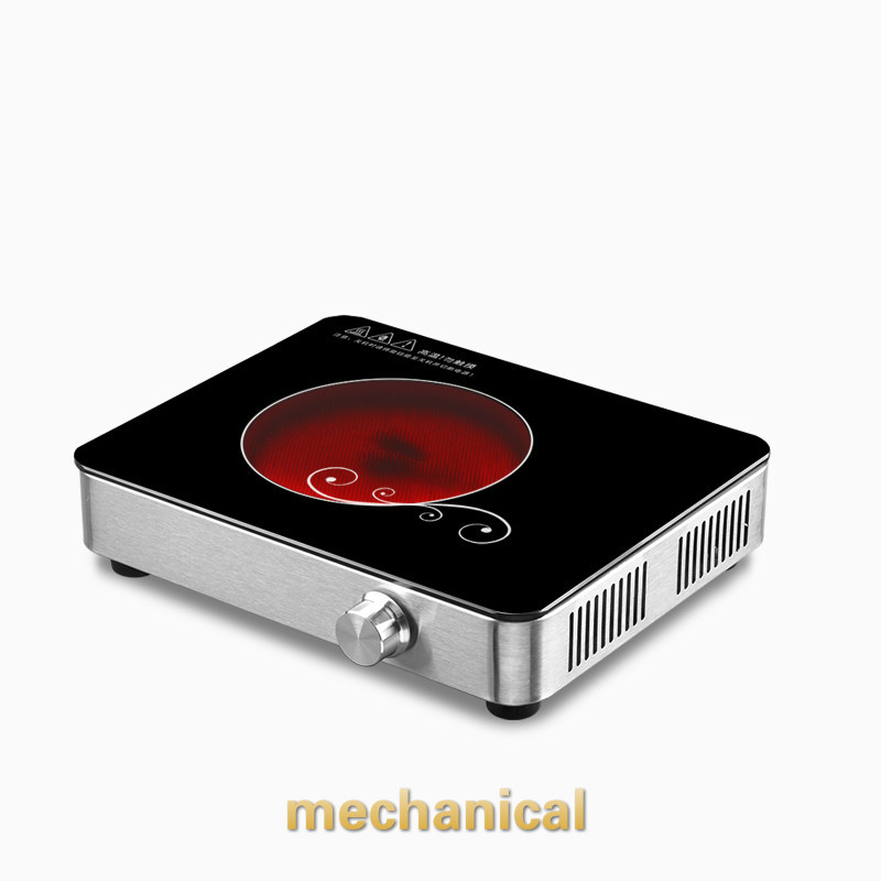 Hot Plates Mini silent electric ceramic furnace tea stove household glass bubble pot boiling machine non-light electric pottery furnace tea pot 4 file mute mini knob control tea hot water boiler black microlite panel stove boiling machine