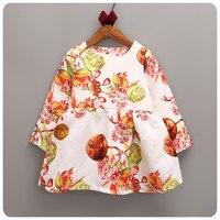 16 Korean Girl Children S Garment Autumn New Pattern Girl Restore Ancient Ways Changxiu Dress Children