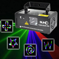 Remote 3D RGB 400mW DMX 512 Laser Scanner Projector Stage Lighting Effect Party Xmas DJ Disco Show Lights Full Color Light
