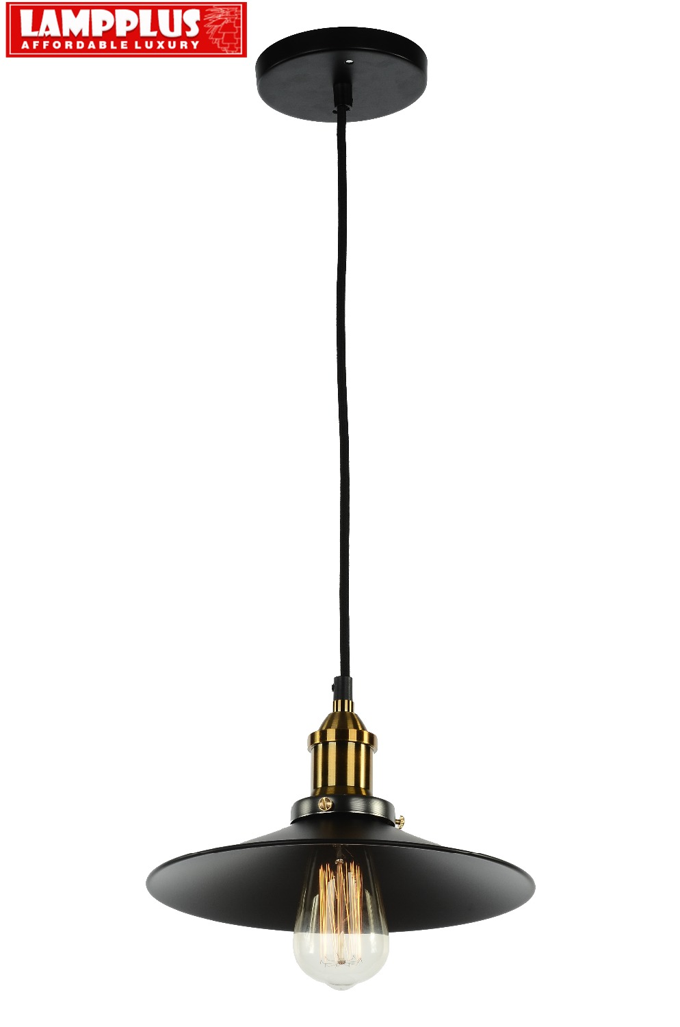 Lampplus Nordic Simple Vintage Loft Industrial Brass Black Pendant light Droplight Ceiling lamp for bedroom living room study