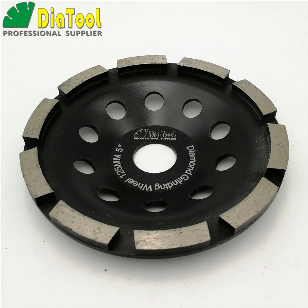 US $17 79 23% OFF|DIATOOL Diameter 125MM Diamond Single Row Grinding Cup  Wheel For Concrete Masonry 5 Inch Grinding Disc For Granite Marble-in