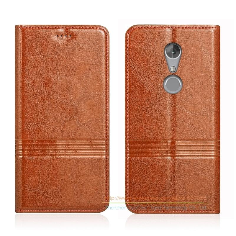 """bilder für Vintage echtem leder flip stand case für zte axon 7 axon7 mini 5,2 """"telefon Rindsleder Abdeckung & Micro Invisible Magnet"""