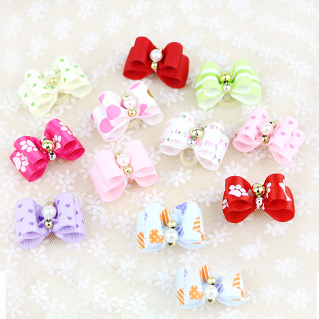 Grooming Accessories  10 piece/set Pet   Fashion Hairpin Flower Hair Bows For Dogs or Cats