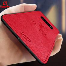 Hacrin Fabric Phone Case for Samsung S10 Cloth Texture Soft Back Cover Shockproof Galaxy S10+