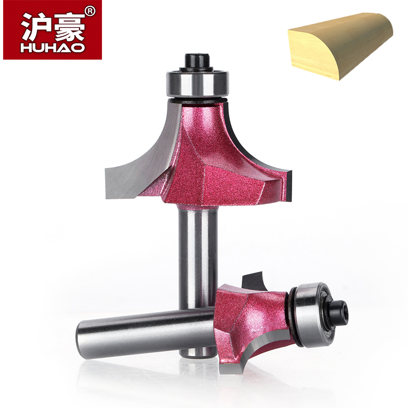 HUHAO 1pc Shank 8mm Radius Round Cove Box Bit CNC Round Nose Carbide Router Bits With Bearing For Wood Woodworking Endmill huhao 1pcs 1 2 1 4 shank classical router bits for wood tungsten carbide woodworking endmill tools classical mounlding bit