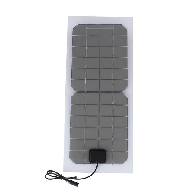 SUNWALK Monocrystalline silicon 10W 12V Solar Panel with DC 5521 Cable Semi-flexible Transparent 12V Solar Panel Charger