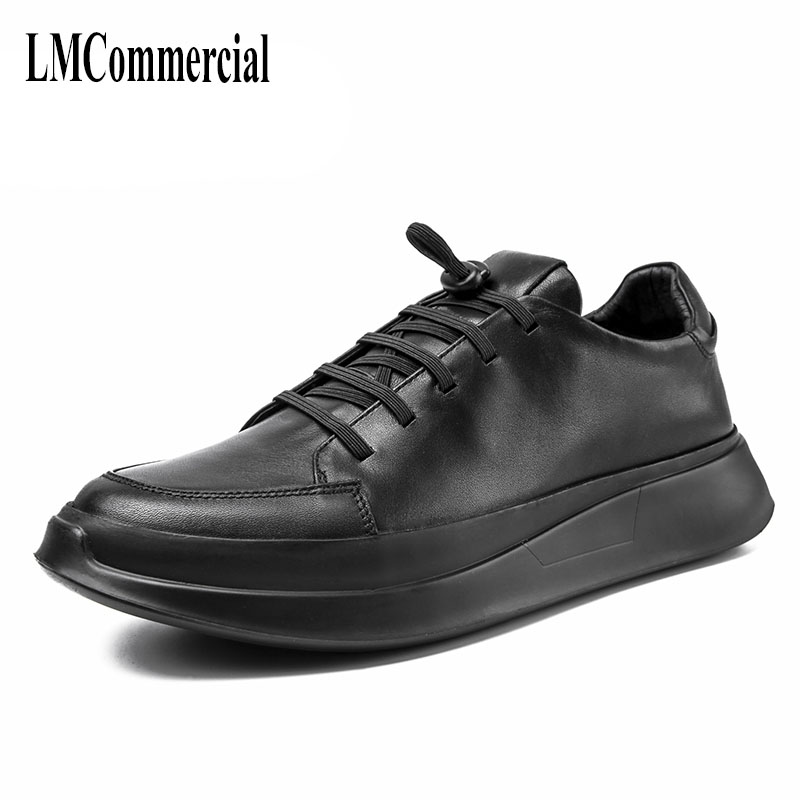 ew autumn winter British retro men shoes cowhide all-match young men leather casual shoes in winter with thick bottom breathable mulinsen latest lifestyle 2017 autumn winter men