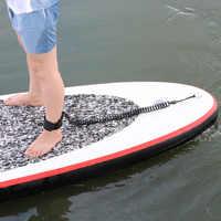 Élastique Sports nautiques pied corde laisse surf radeau spécial Traction enroulé cheville pour Paddle Board jambe extensible printemps TPU