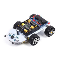 DIY Kit C51 Intelligent Vehicle Obstacle Avoidance Tracking Intelligent Car Kit Two Motor Drives Smart Vehicle