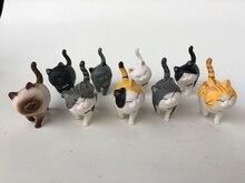 9ピース/ロットミニ猫かわいいactoys日本アニメ素敵な鐘猫ホリデーギフトアクションフィギュアコレクタブルモデルおもちゃ子供のため