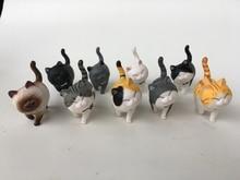 Mini gato kawaii ACTOYS de Japón, 9 unidades por lote, modelo de juguetes coleccionables para niños, regalo de vacaciones