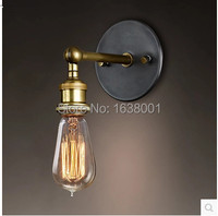 American Country Retro Iron Wall Sconce Light Cafe Bar Station Corridor Bedside Wall Lamp